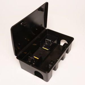 Kompakt patkányláda fekete, egértilós betéttel ÚJDONSÁG